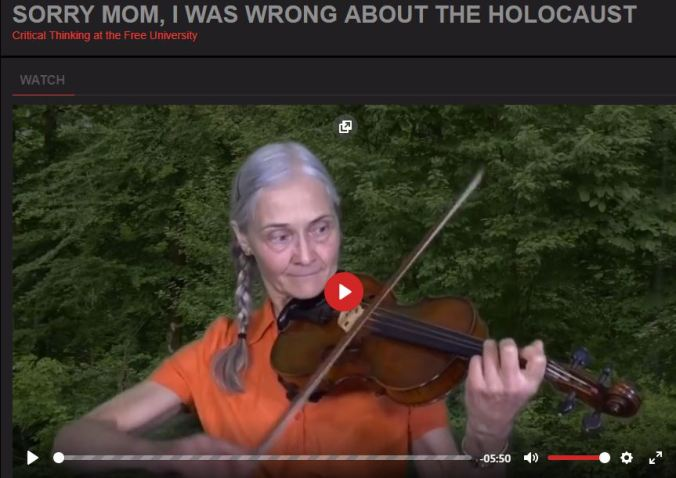 sorry mom wrong about holocaust